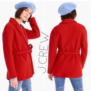 NWT J. Crew red Italian boiled wool coat XXL 1X